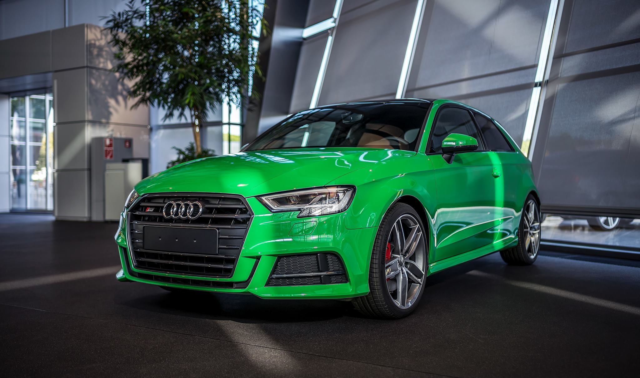2017 audi s3 3 door in porsche green is a purist 39 s car autoevolution. Black Bedroom Furniture Sets. Home Design Ideas