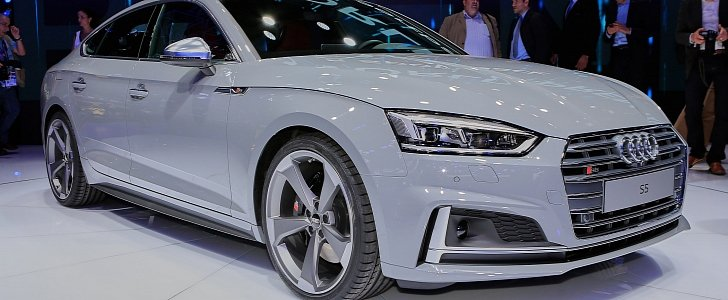 2017 Audi S5 Sportback Looks Like A Shark Thanks To Nardo Gray Paint Autoevolution