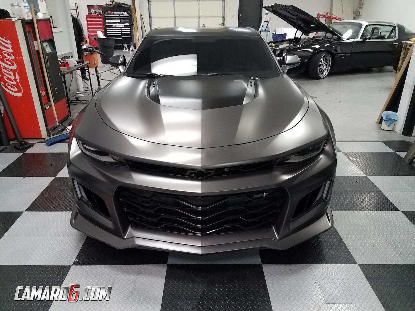 Hellcat 2018 Chevy Camaro >> 2017 Camaro ZL1 Gets Satin Nero Wrap, Extreme Window Tint ...