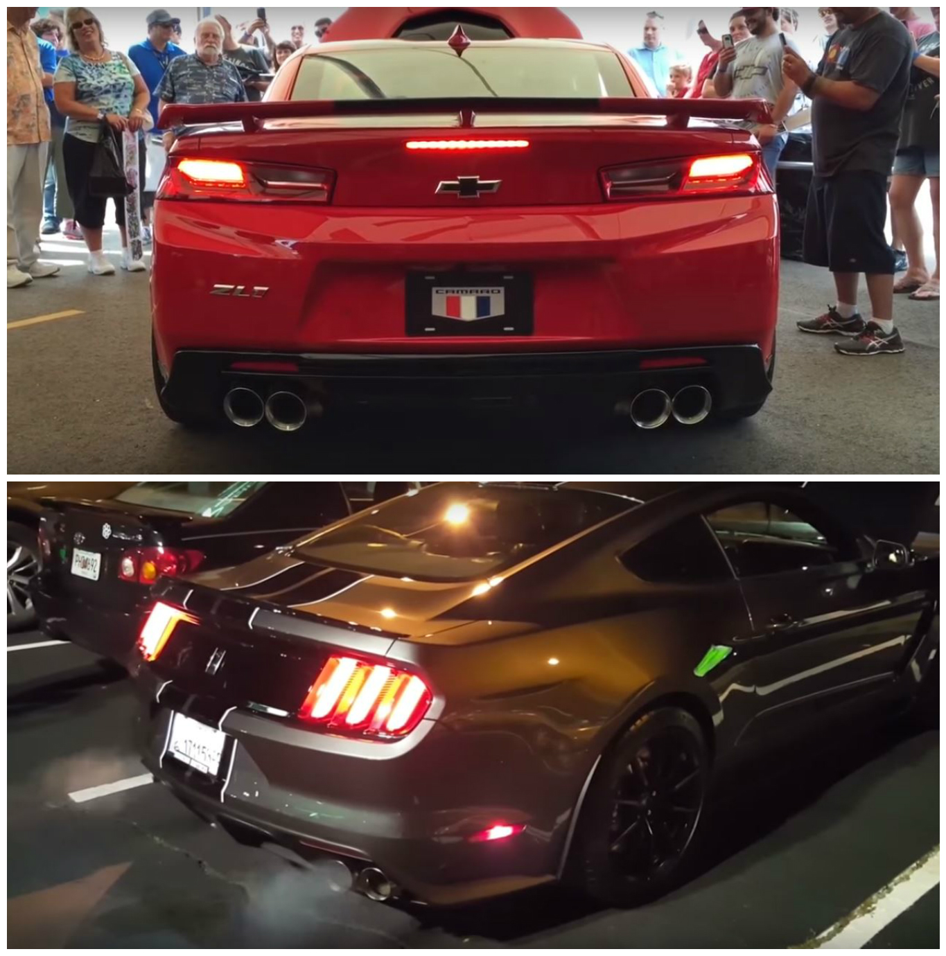 2017 Chevrolet Camaro Zl1 Vs Mustang Shelby Gt350 Exhaust