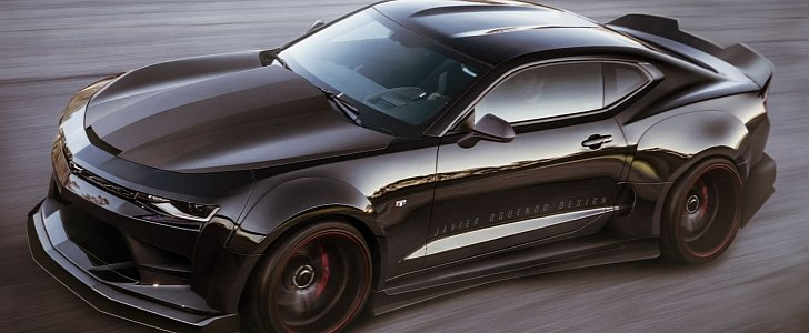 Once Driven Reviews >> 2017 Chevrolet Camaro ZL1 Widebody Rendering Is Not a Far Stretch - autoevolution