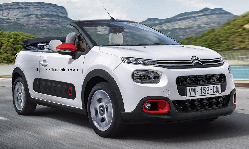 2017 citroen c3 cabriolet is the perfect car for weekend shopping autoevolution. Black Bedroom Furniture Sets. Home Design Ideas