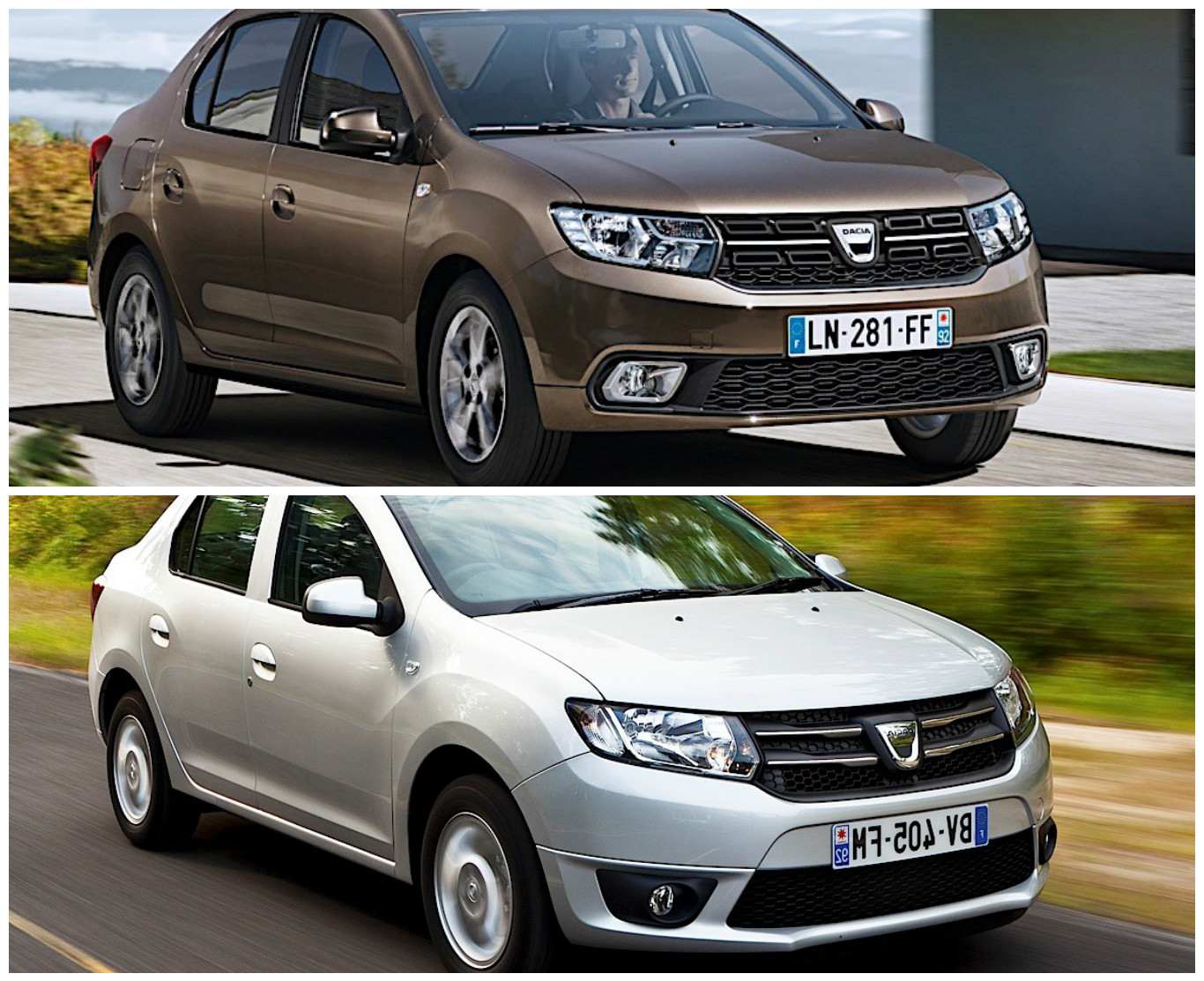 2017 dacia logan facelift photo comparison so what 39 s new autoevolution. Black Bedroom Furniture Sets. Home Design Ideas