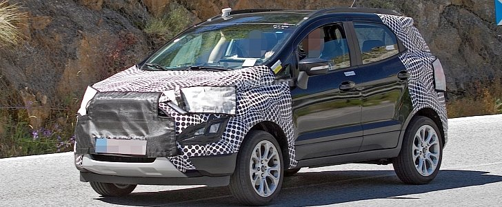2017 ford ecosport facelift spied in europe borrows. Black Bedroom Furniture Sets. Home Design Ideas