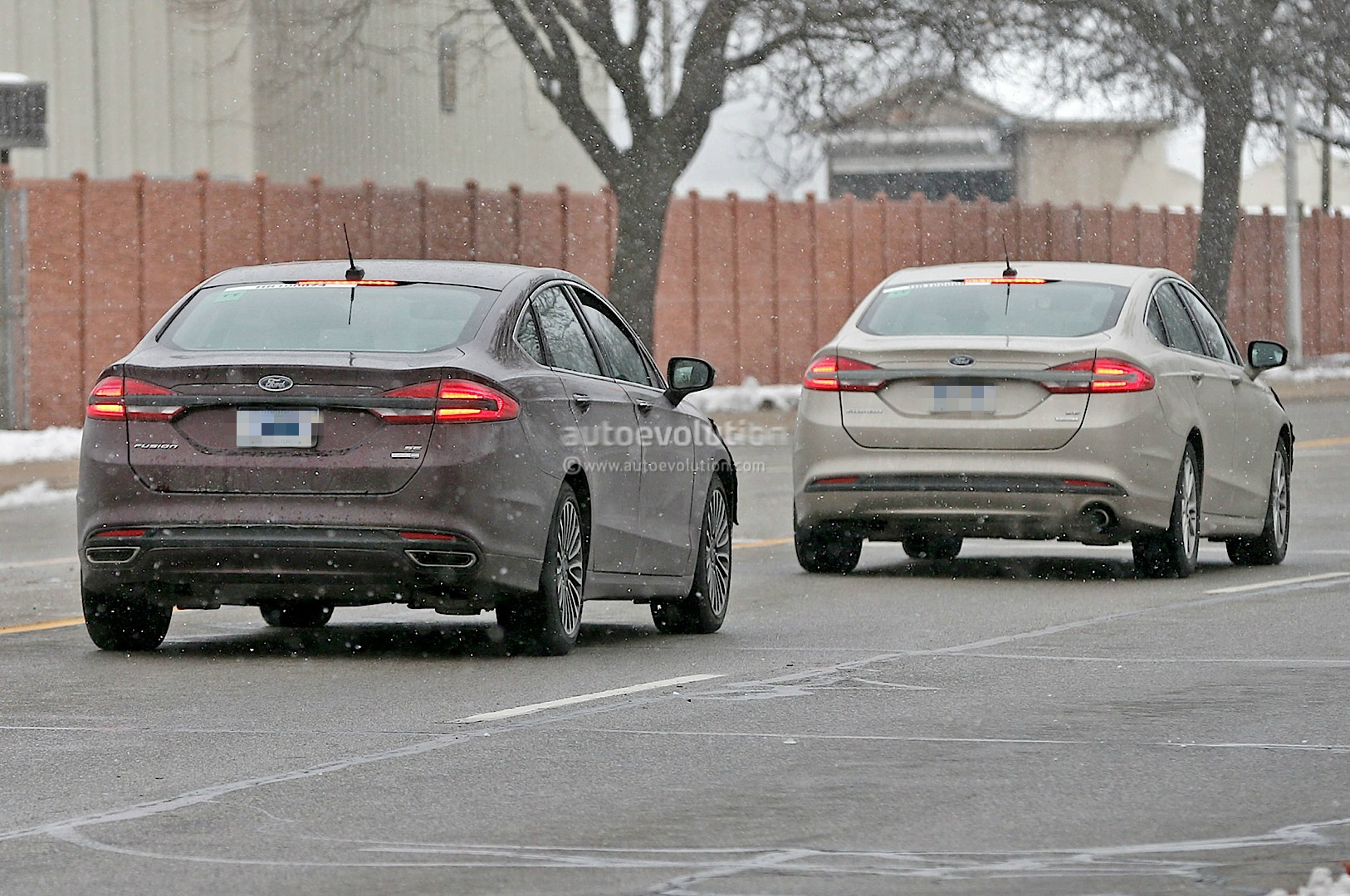 2017 Ford Fusion Mondeo Loses Some Camo Spyshots Show Rear Led Strip