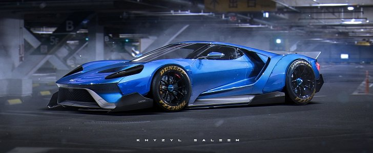 2017 Ford Gt Quot Egoista Quot Rendering Has Liberty Walk Widebody