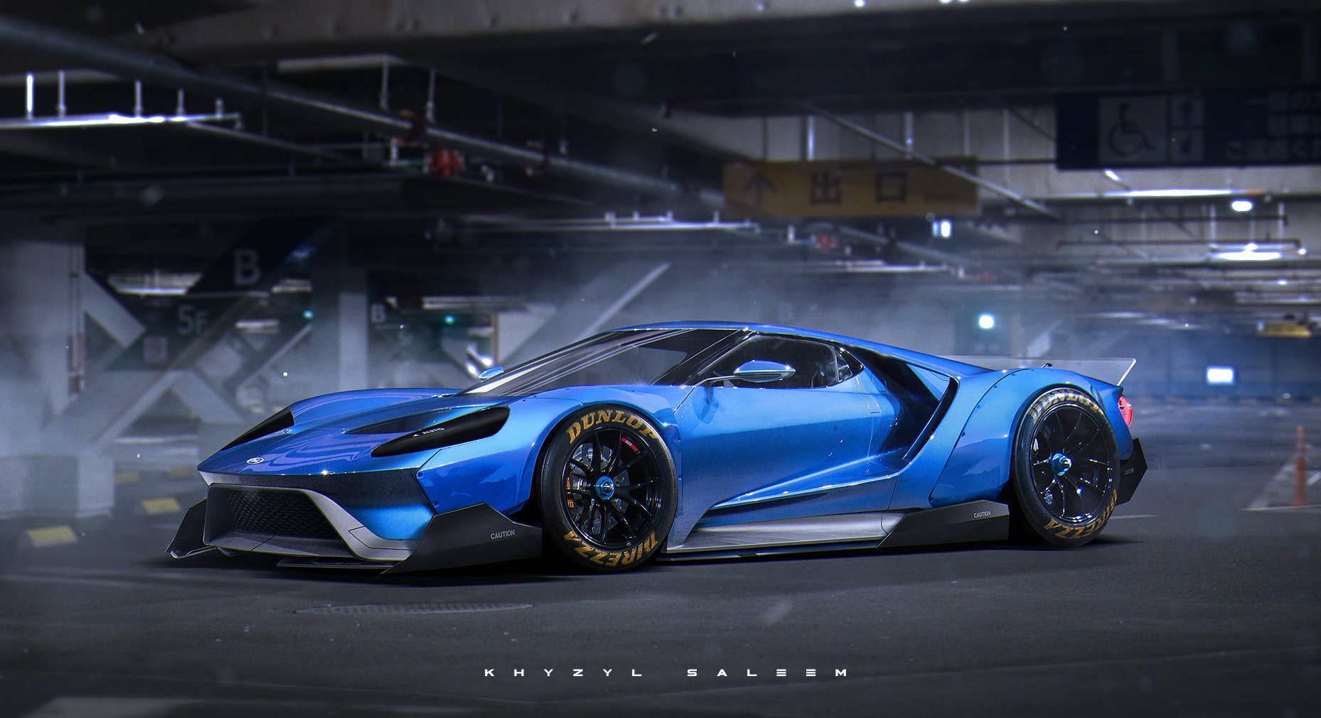 2017 Ford Gt Egoista Rendering Has Liberty Walk Widebody Kit 97705 on e30 diffuser