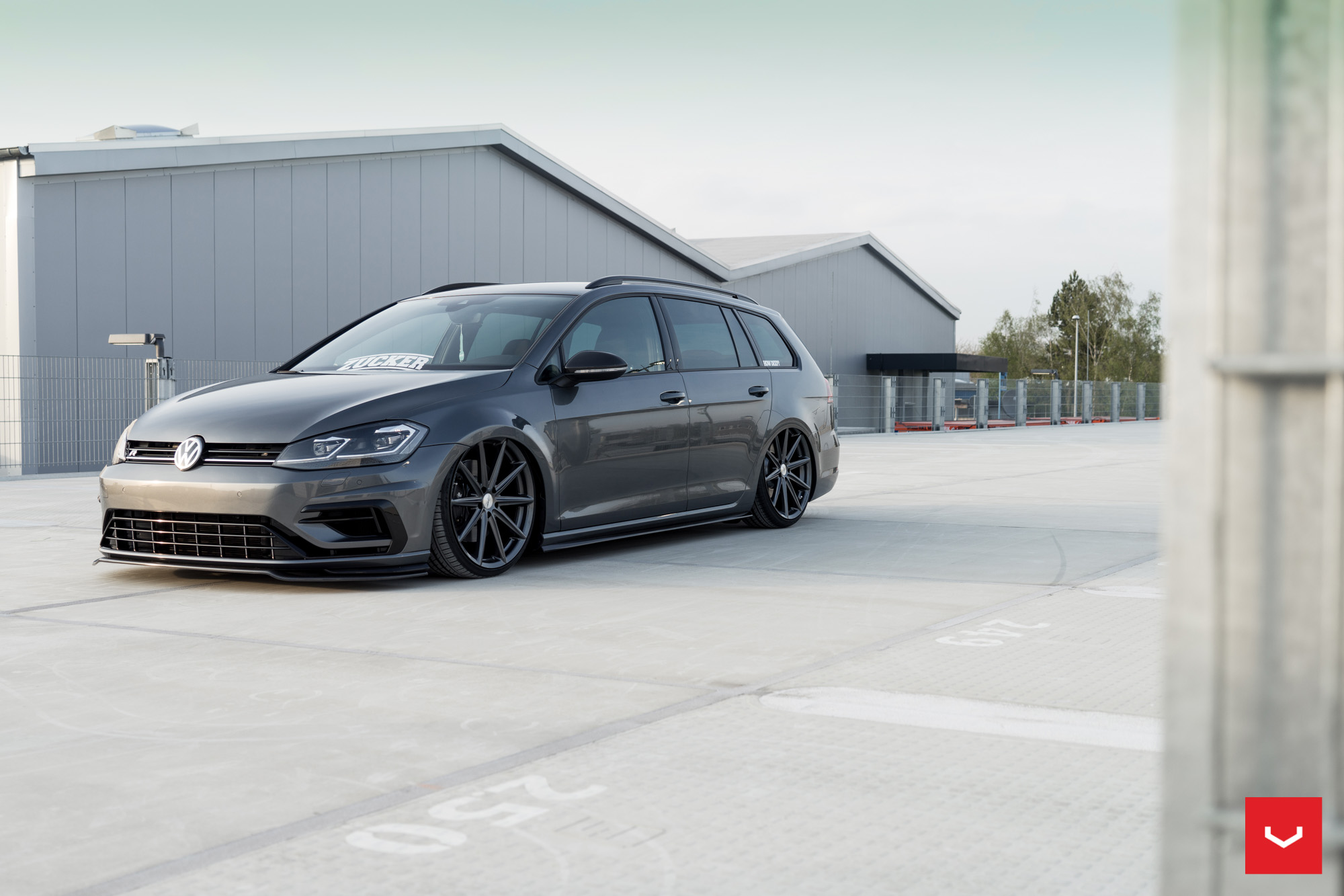 2017 golf r variant gets stanced on vossen wheels for. Black Bedroom Furniture Sets. Home Design Ideas