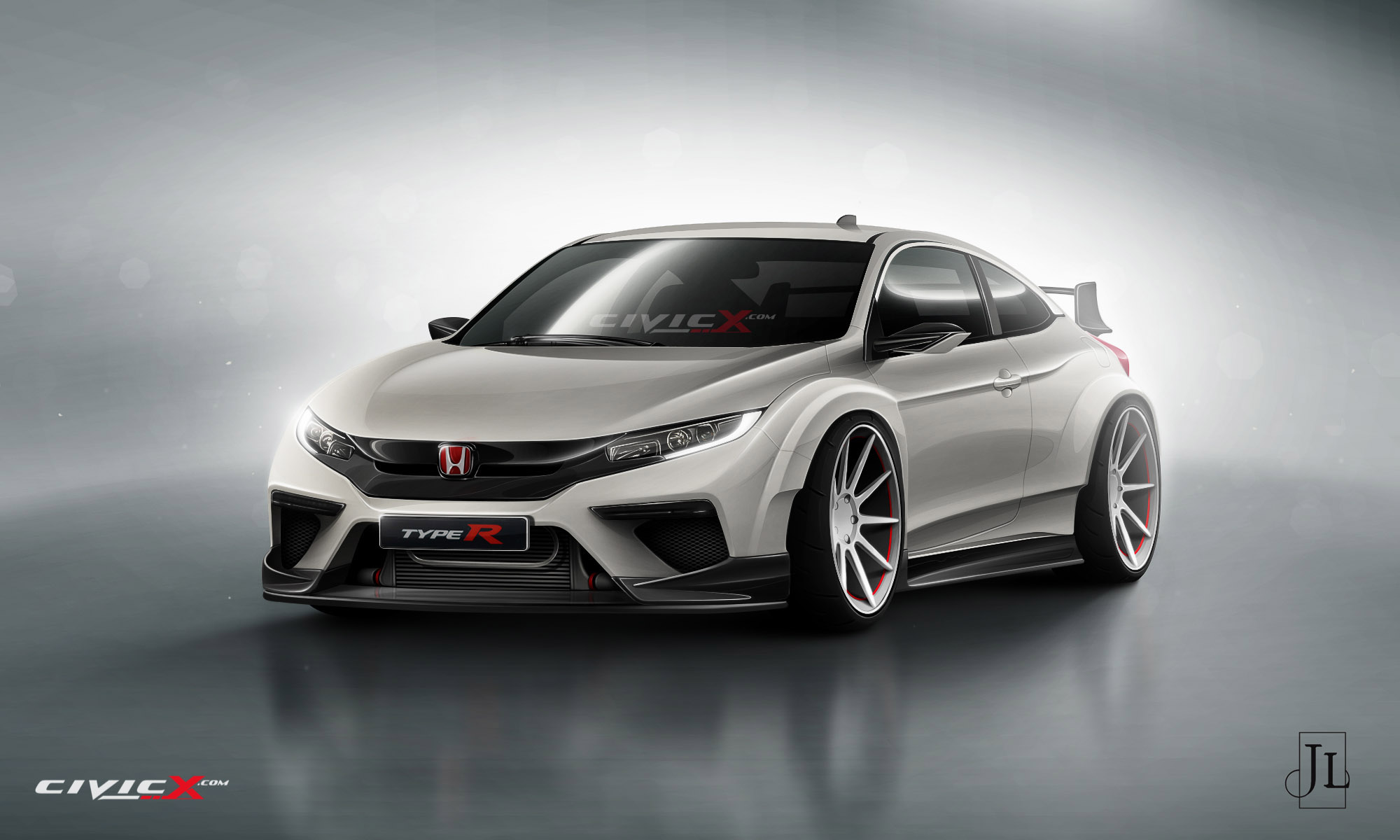 2017 honda civic coupe rendered in vanilla and super hot. Black Bedroom Furniture Sets. Home Design Ideas