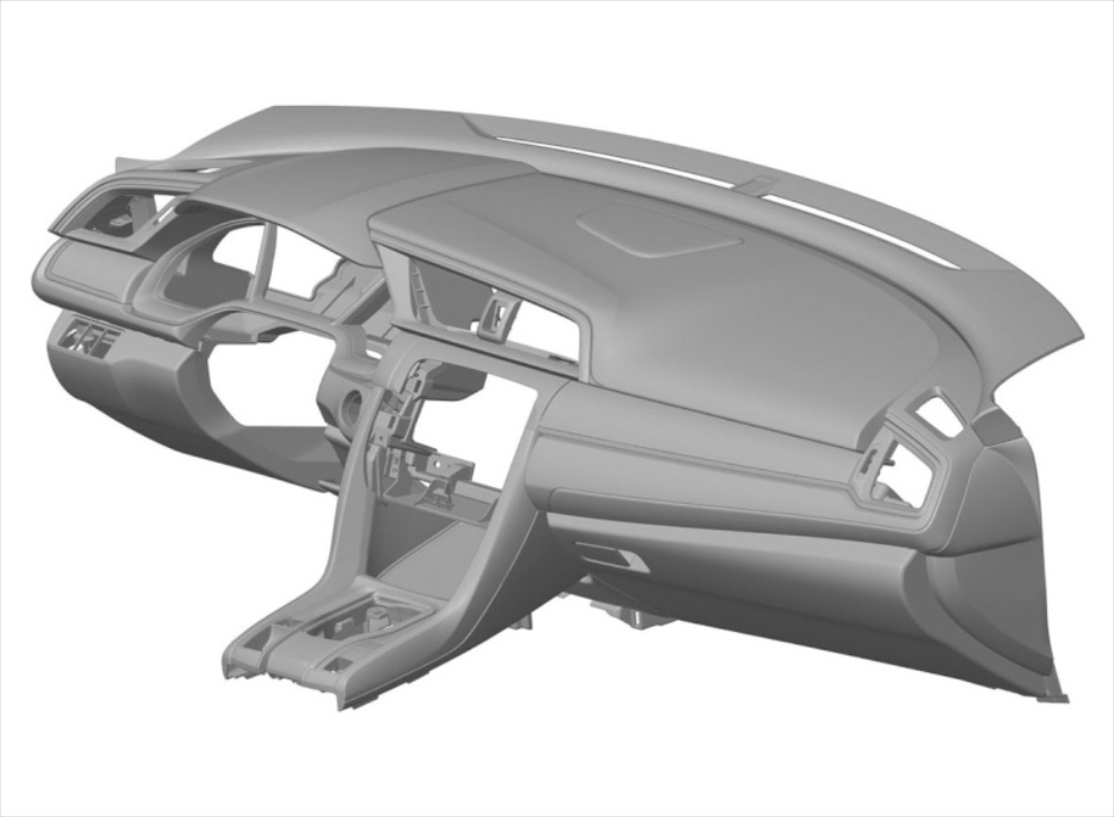 Honda Civic Dashboard Leaked Though Patent Images on Car Engine Drawings