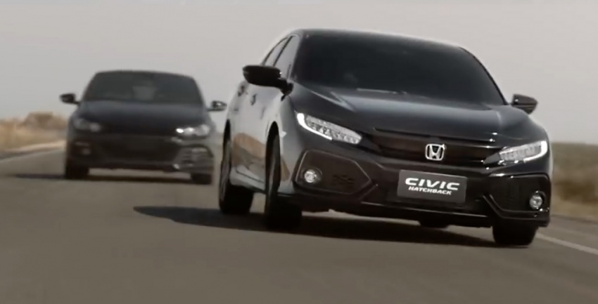 Honda Civic Commercial >> 2017 Honda Civic Hatch Chased By Vw Scirocco In Thai Commercial