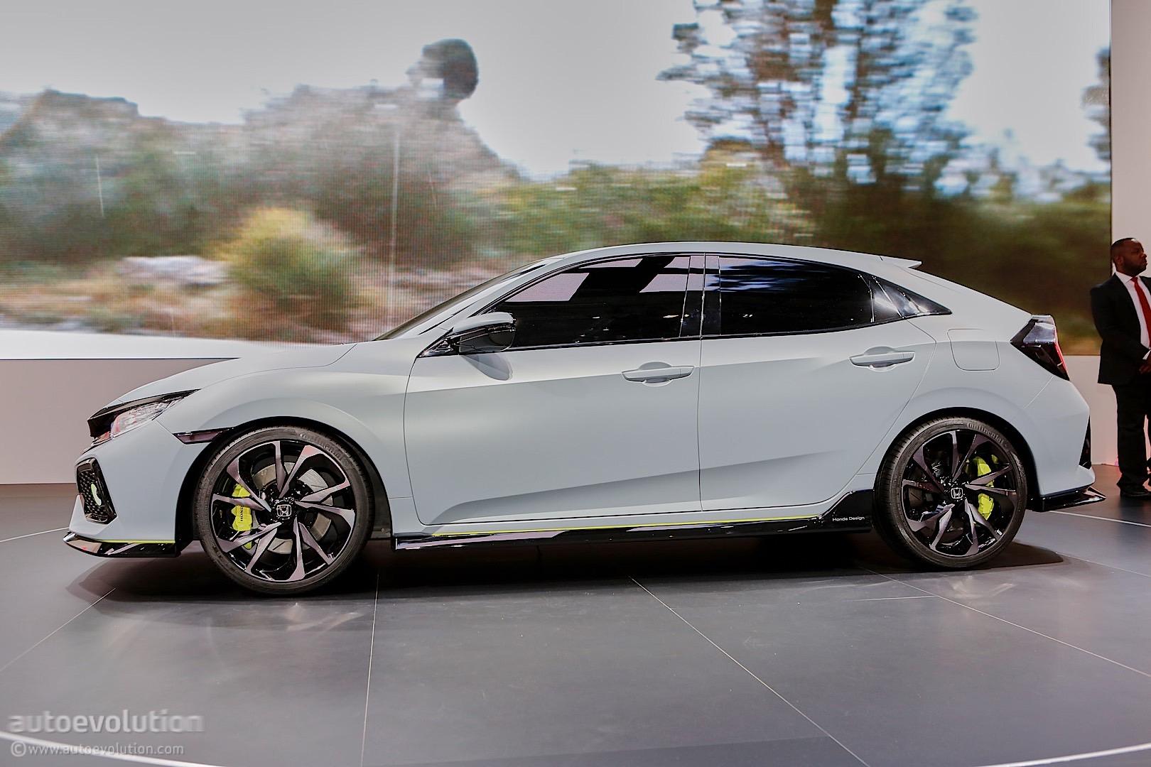 2017 honda civic hatchback previewed by concept in geneva autoevolution. Black Bedroom Furniture Sets. Home Design Ideas