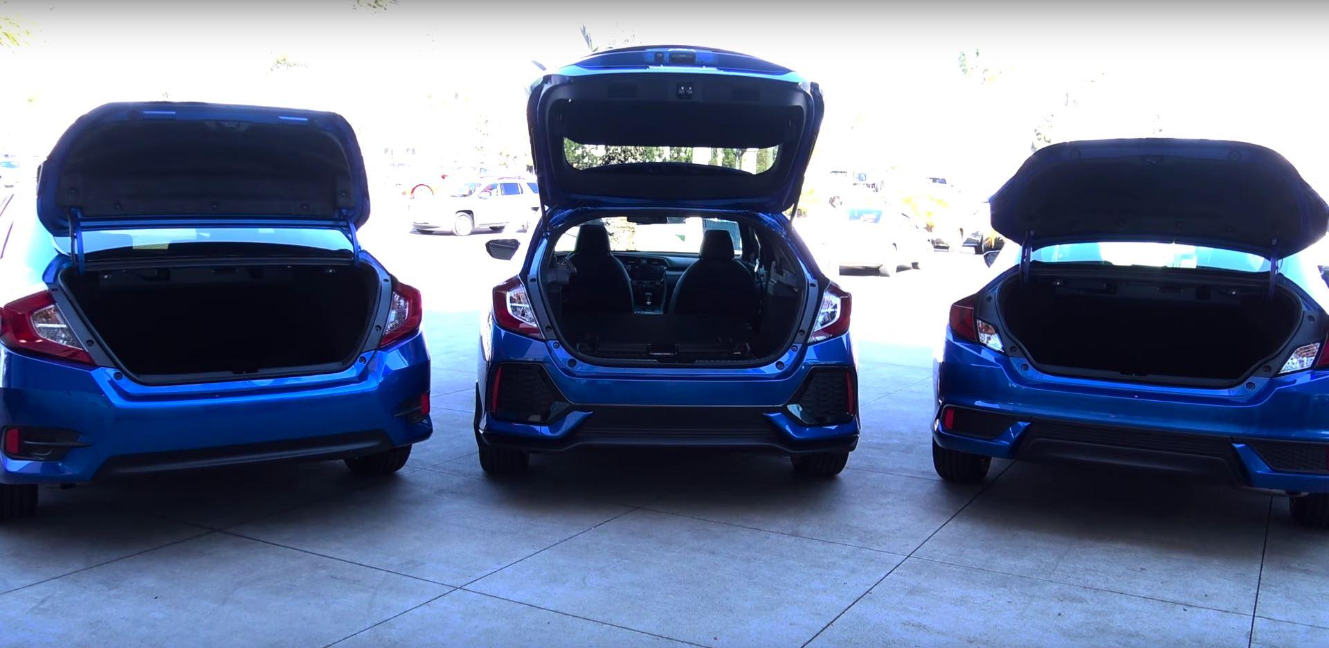 2017 Honda Civic Hatchback Vs Sedan Coupe Comparison