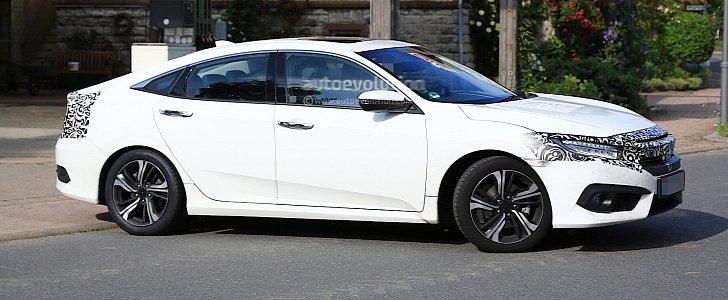 2017 Honda Civic Sedan Spied Almost Undisguised in Europe ...