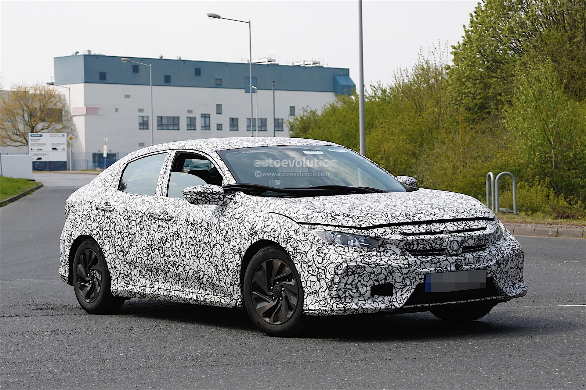 2017 honda civic spyshots reveal interior design   autoevolution