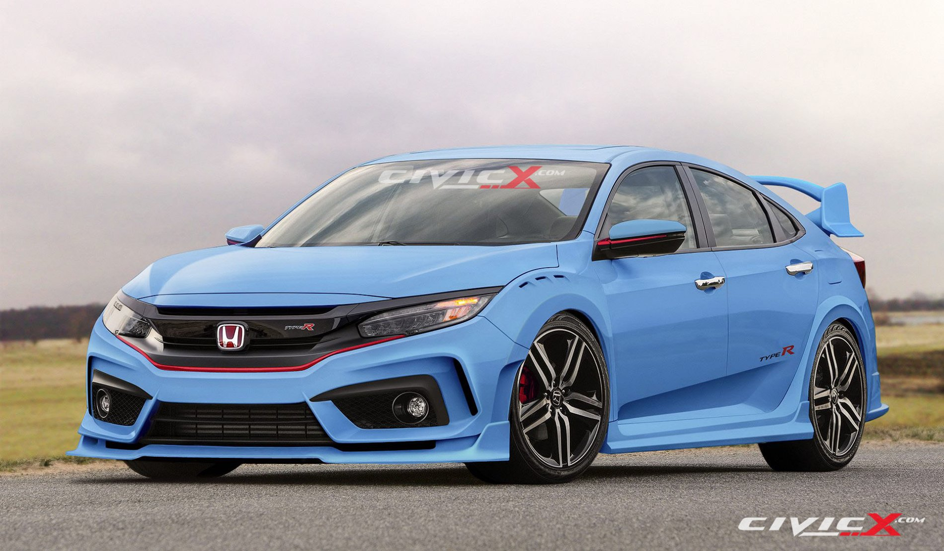 2017 honda civic type r looks ready to summon satan in latest renderings has muffler bypass. Black Bedroom Furniture Sets. Home Design Ideas