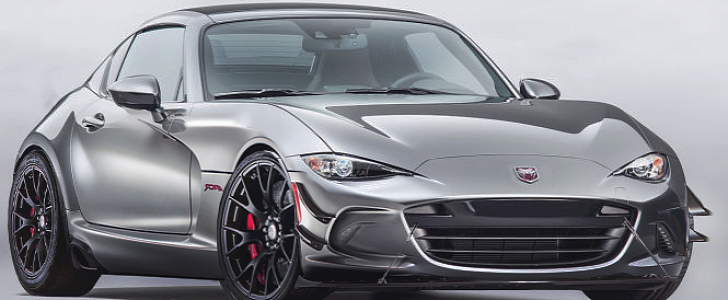 2017 Mazda Miata RF Gets Dodge Viper ACR Aerodynamics in Awesome Rendering - autoevolution
