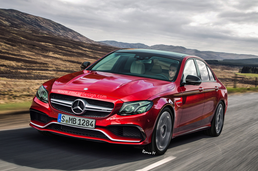 2017 mercedes amg e63 gets a realistic if somewhat for Mercedes benz e class amg 2017