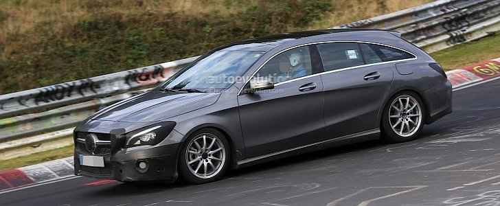 2017 mercedes benz cla shooting brake facelift looks its for Mercedes benz tracksuit
