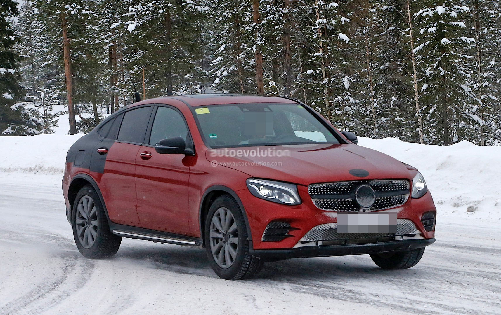 2017 Mercedes Benz Glc Coupe Shows Up Virtually Unmasked