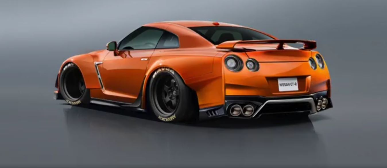 rauh-welt begriff nissan gt-r rendering is a double middle finger