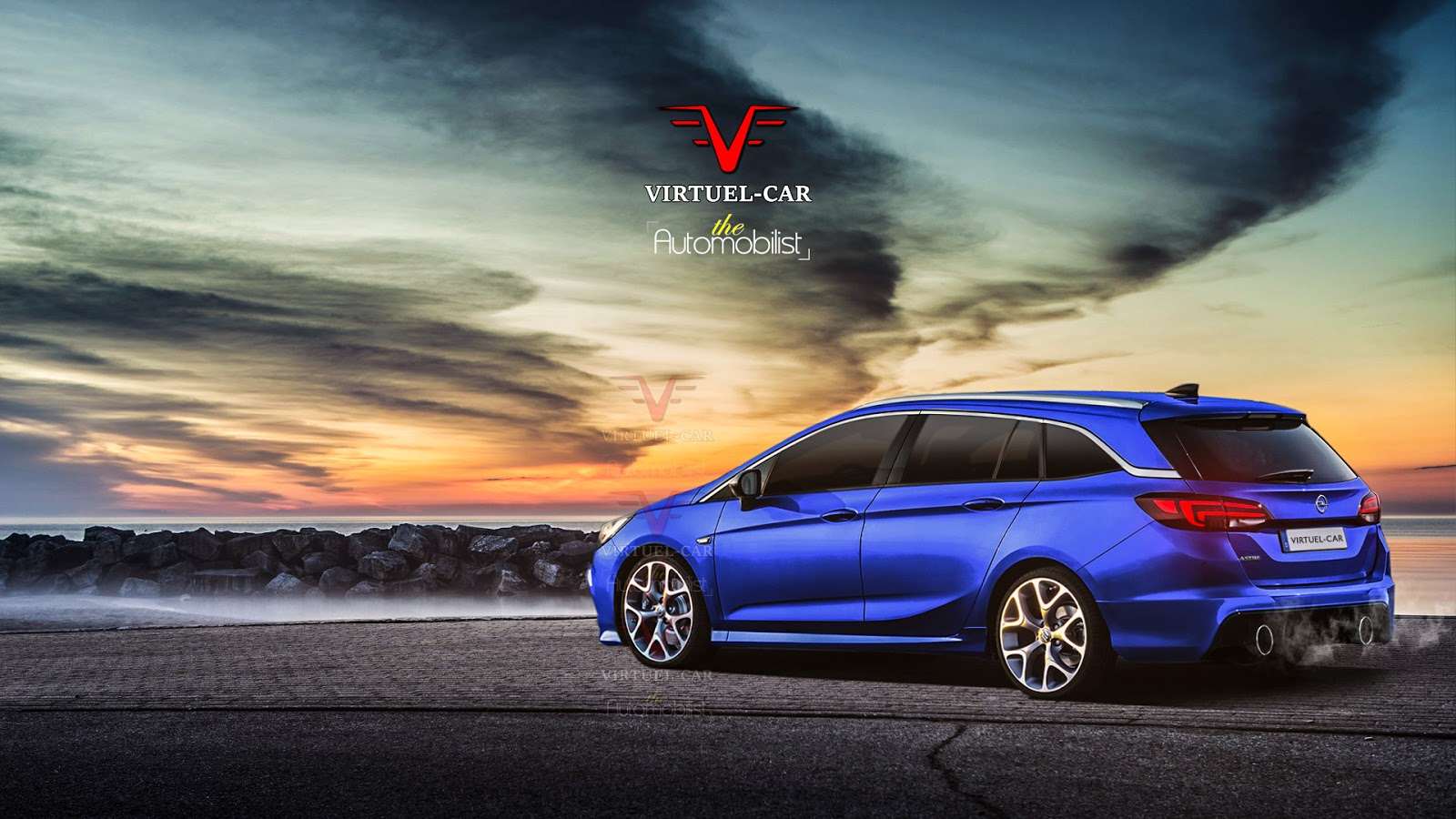 2017 opel astra tourer opc rendering is too good to be true autoevolution. Black Bedroom Furniture Sets. Home Design Ideas