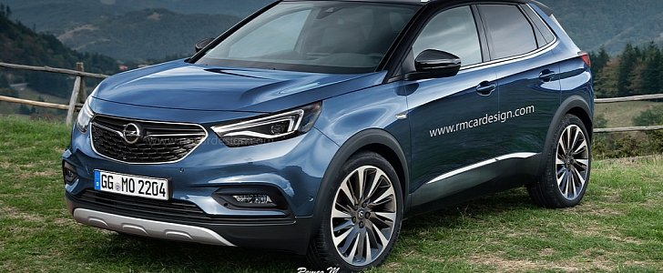 2017 opel grandland x rendering is a peugeot in disguise. Black Bedroom Furniture Sets. Home Design Ideas