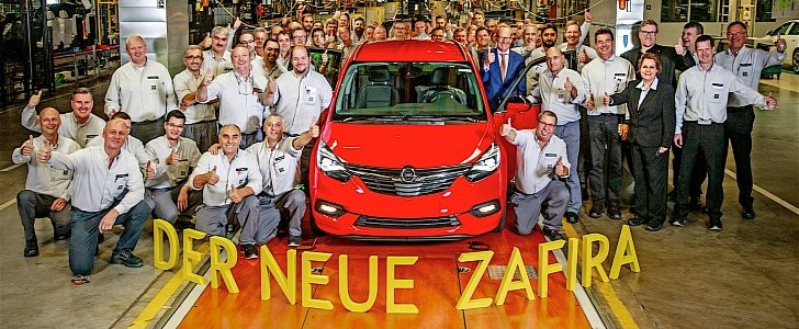 2017 Opel Zafira Production Begins In Russelsheim Plant - autoevolution