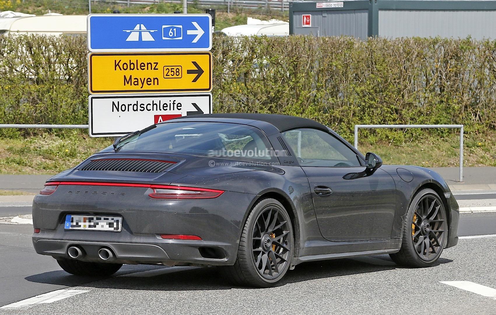 2017 Porsche 911 Targa Gts 991 2 Spied Near The Nurburgring Autoevolution