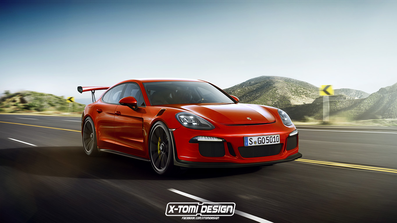 2017 porsche panamera gt3 rs rendered as the racing sedan we 39 ll never get autoevolution. Black Bedroom Furniture Sets. Home Design Ideas