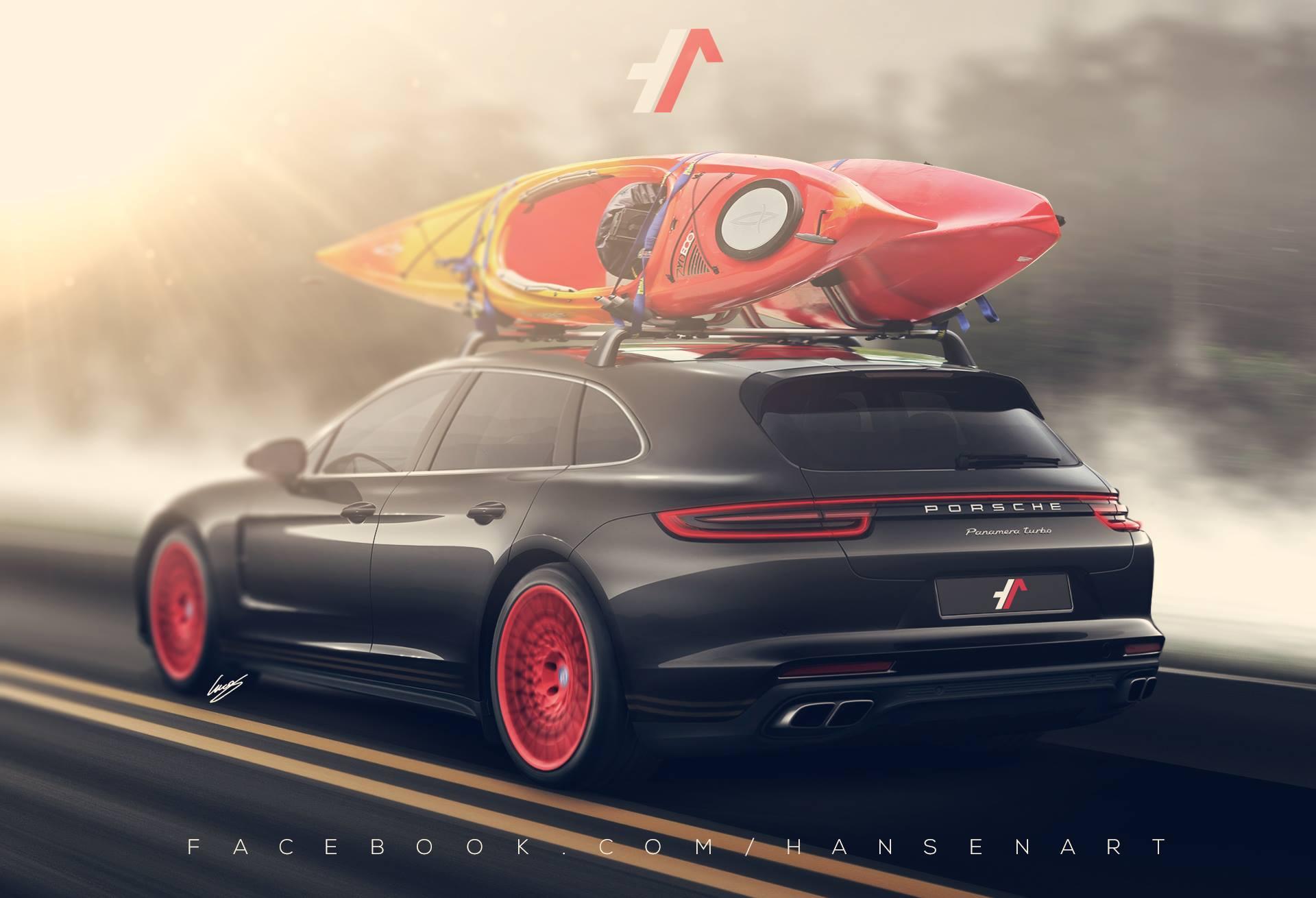 2017 Porsche Panamera Turbo Shooting Brake Rendered Hauls