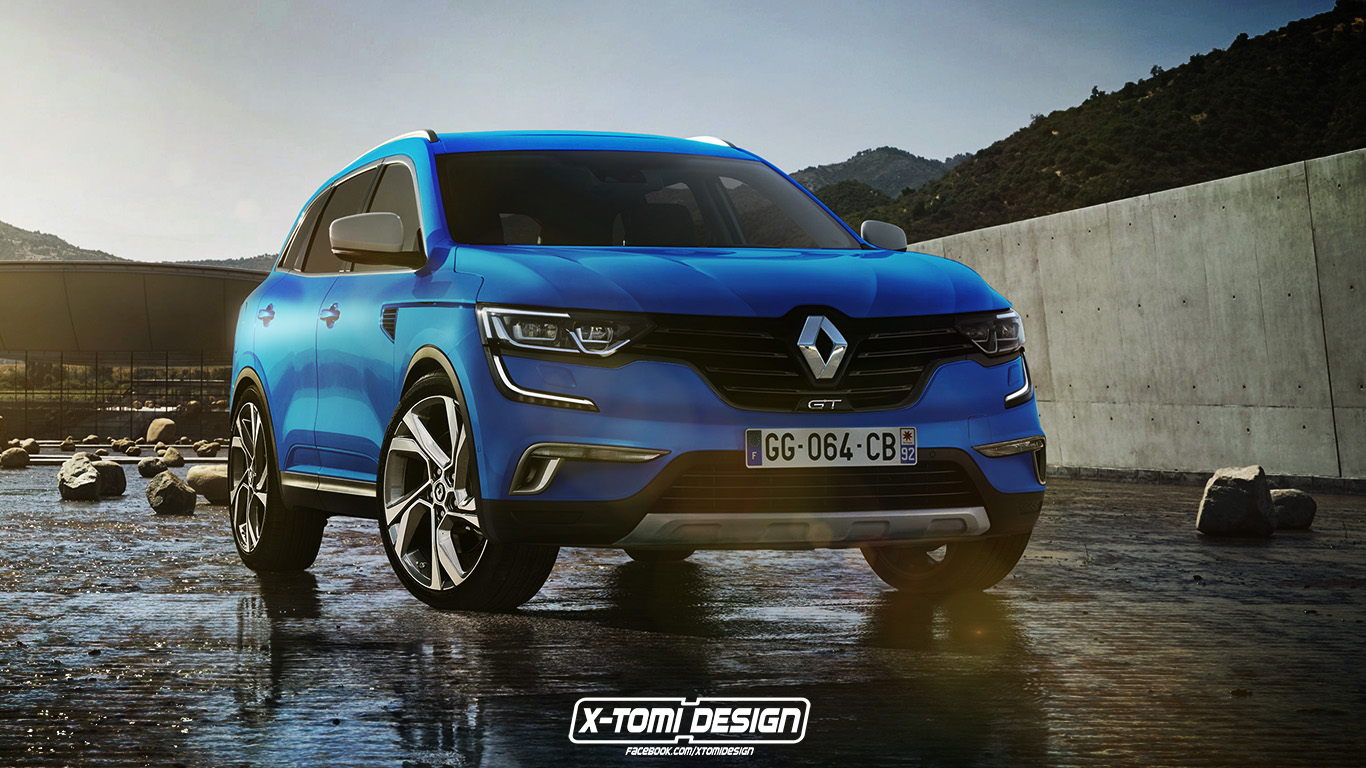 2017 renault koleos gt rendered already autoevolution. Black Bedroom Furniture Sets. Home Design Ideas