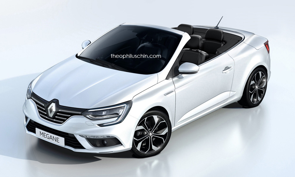 2017 renault megane cabriolet rendering helps us say. Black Bedroom Furniture Sets. Home Design Ideas