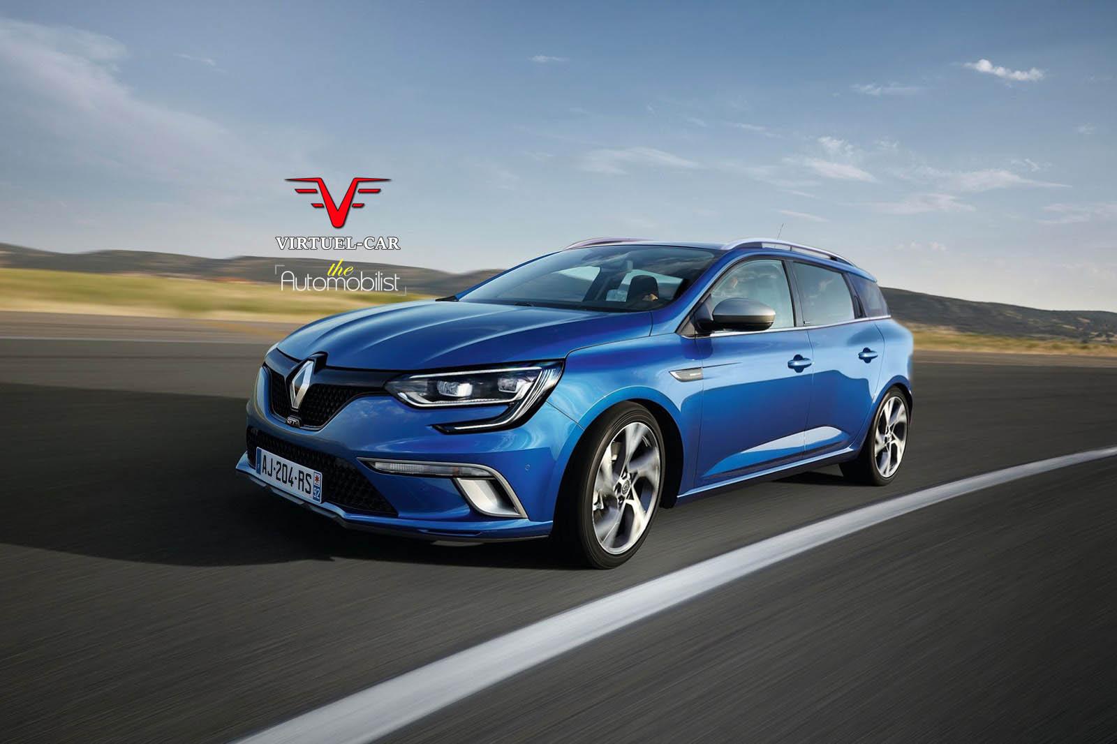2017 Renault Megane IV Estate Rendered - autoevolution