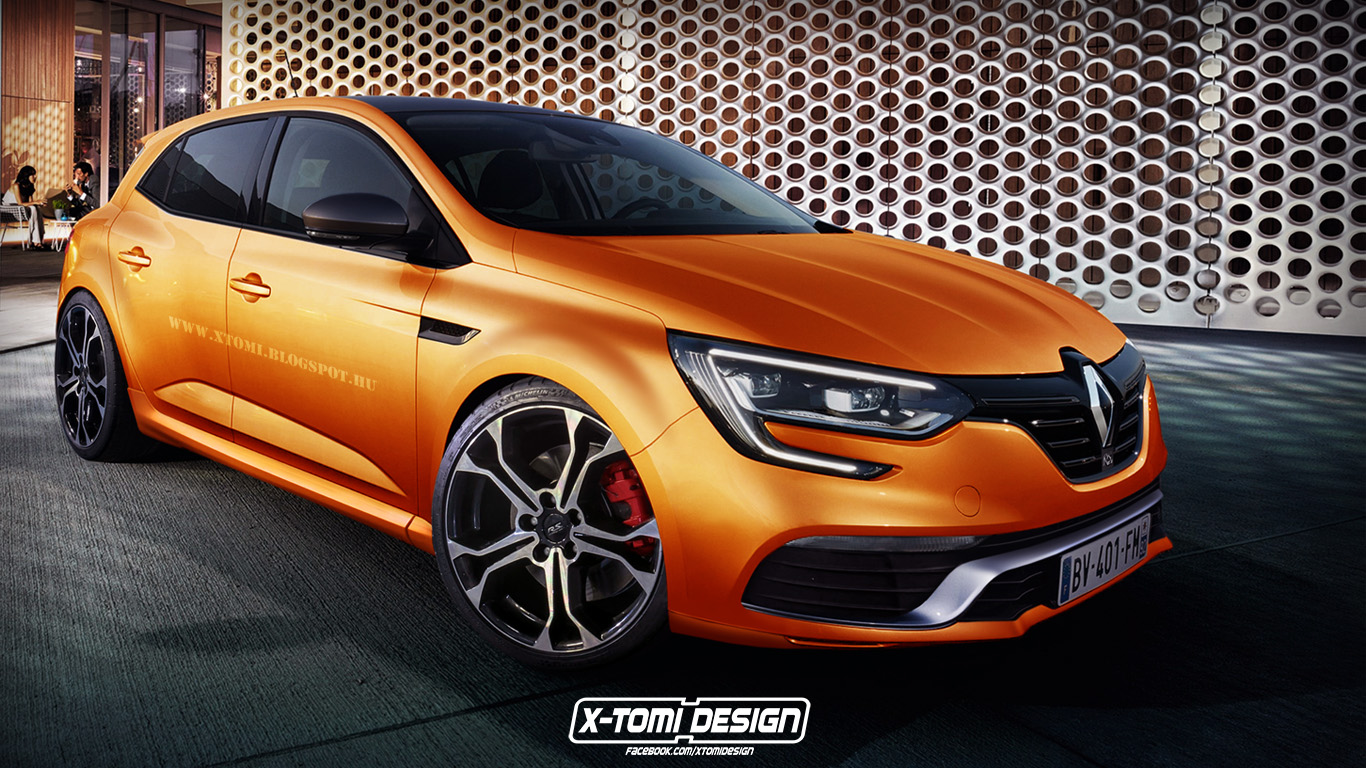 2017 renault megane rs rendered is the future hybrid autoevolution. Black Bedroom Furniture Sets. Home Design Ideas