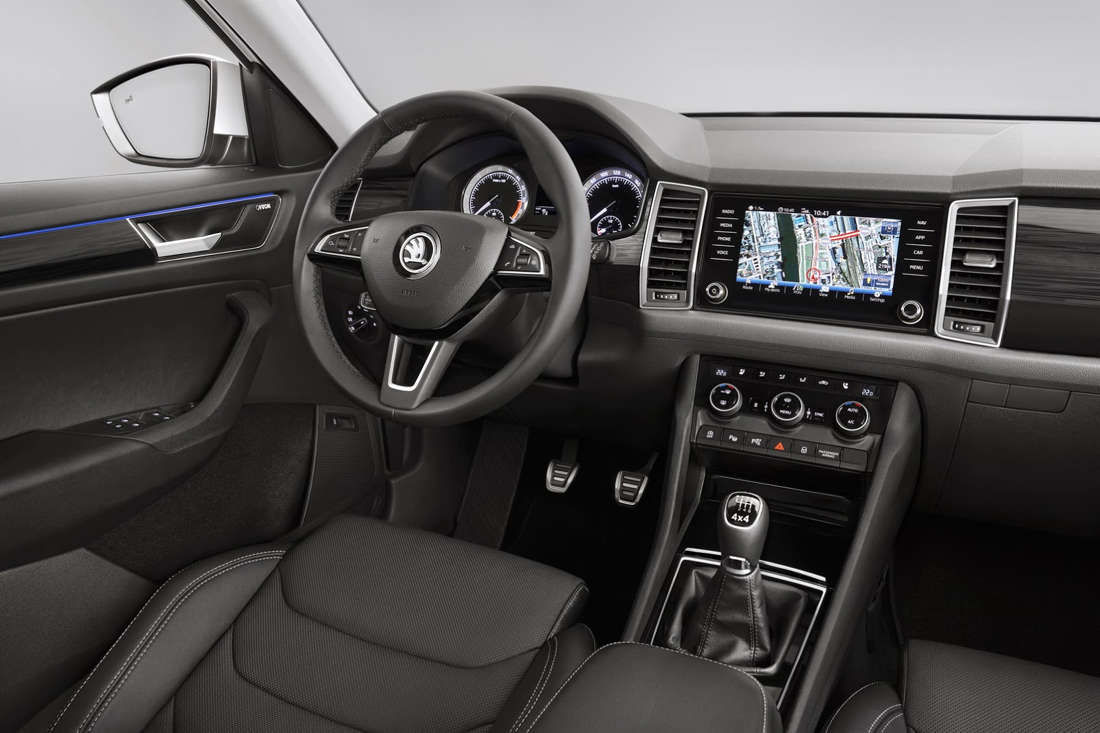 2017 Skoda Kodiaq Interior Design Revealed Ahead of ...
