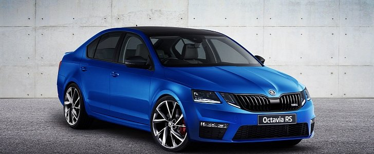 2017 skoda octavia rs facelift rendering is ugly to the mqb core autoevolution. Black Bedroom Furniture Sets. Home Design Ideas