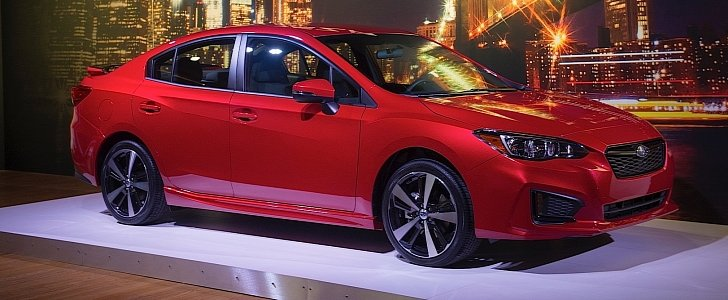 update 2017 subaru impreza unveiled in sedan form 5 door hatchback incoming autoevolution. Black Bedroom Furniture Sets. Home Design Ideas