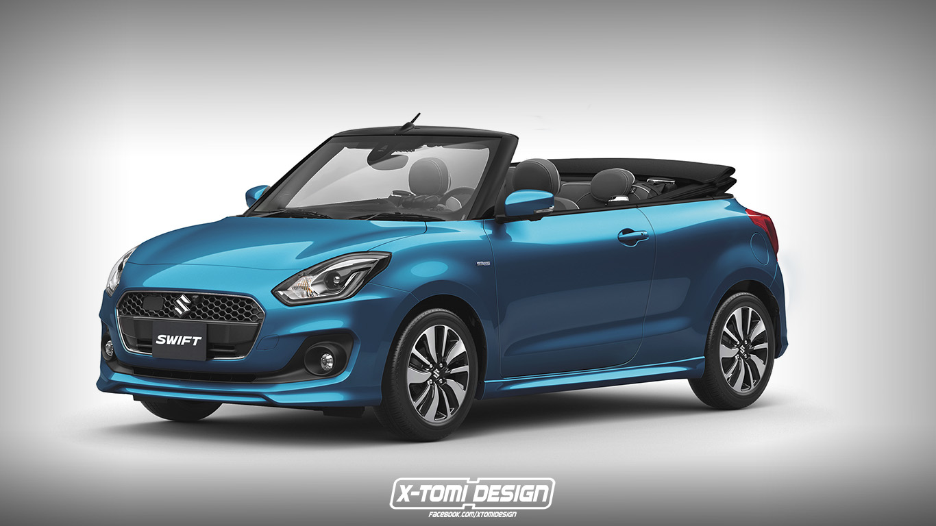 2017 suzuki swift cabrio rendering is cute but it 39 s wrong autoevolution. Black Bedroom Furniture Sets. Home Design Ideas
