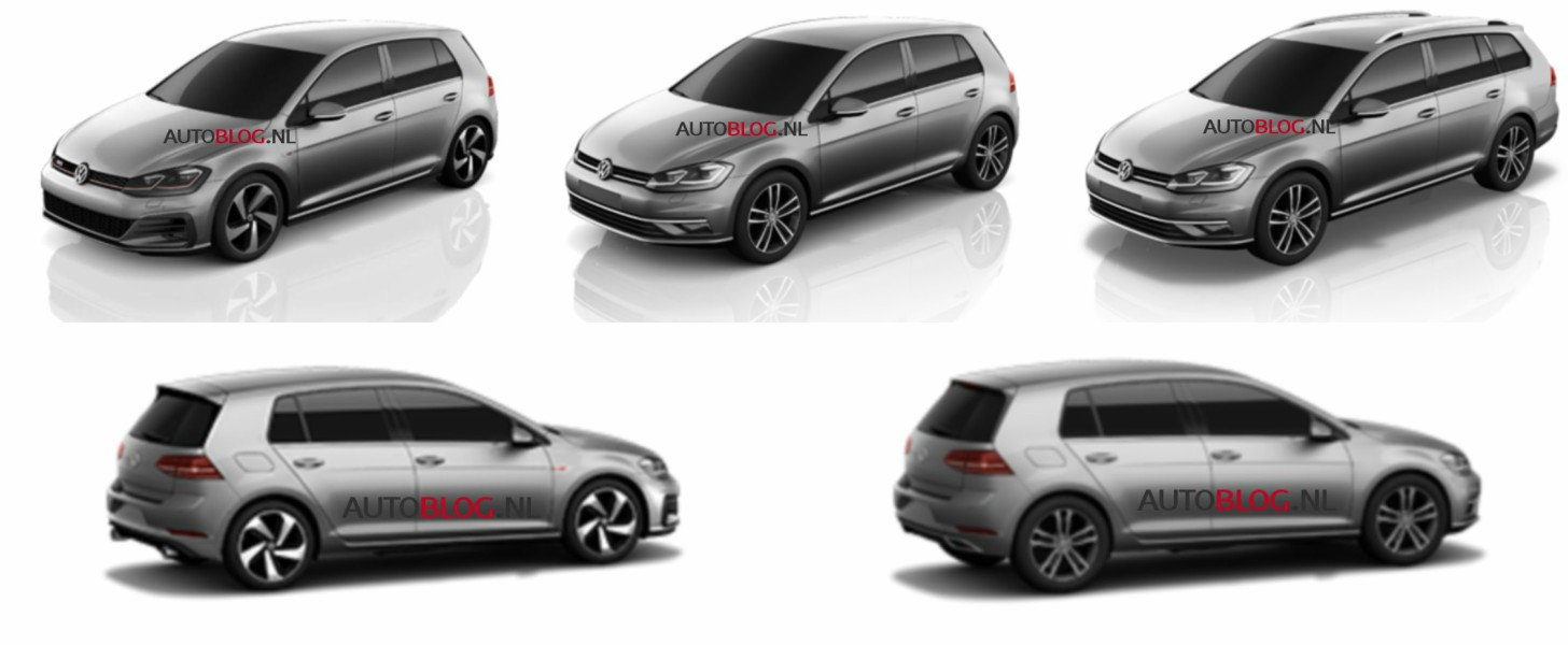 2017 volkswagen golf vii facelift allegedly leaked autoevolution. Black Bedroom Furniture Sets. Home Design Ideas