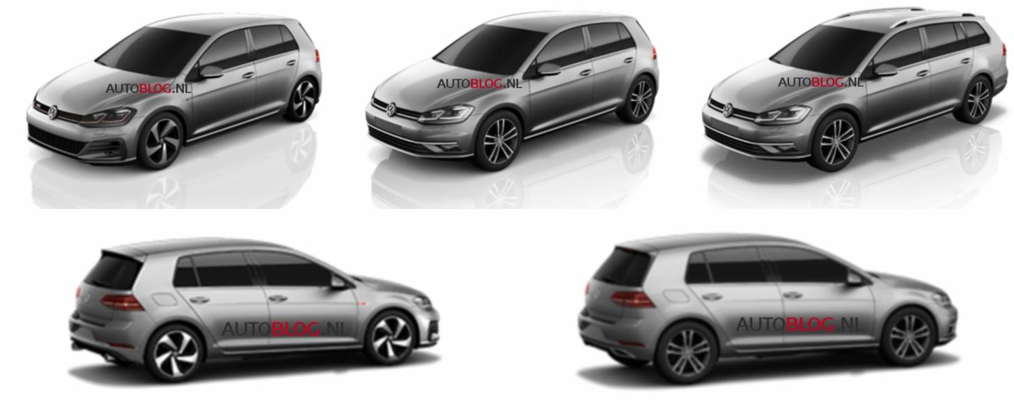 2017 volkswagen golf vii facelift allegedly leaked. Black Bedroom Furniture Sets. Home Design Ideas
