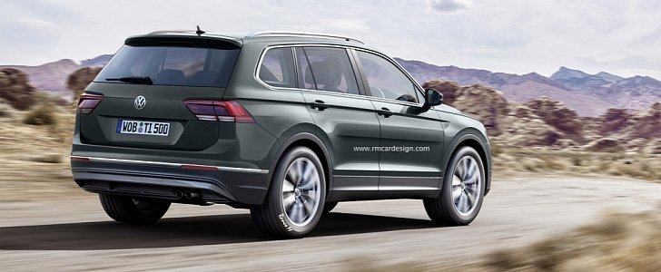 2017 Volkswagen Tiguan Plus 7-Seater Rendered - autoevolution