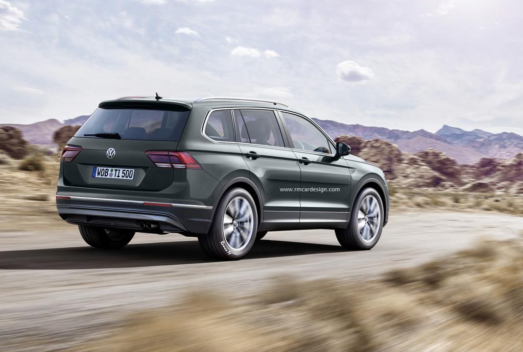Volkswagen Tiguan 2017 7 Seater >> 2017 Volkswagen Tiguan Plus 7 Seater Rendered Autoevolution