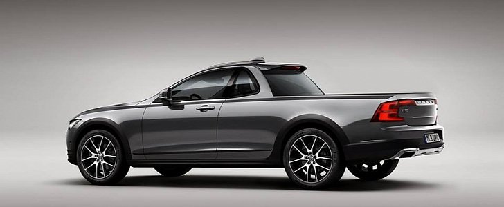 2017 Volvo V90 Cross Country Pickup Truck A Rendering For The Urban