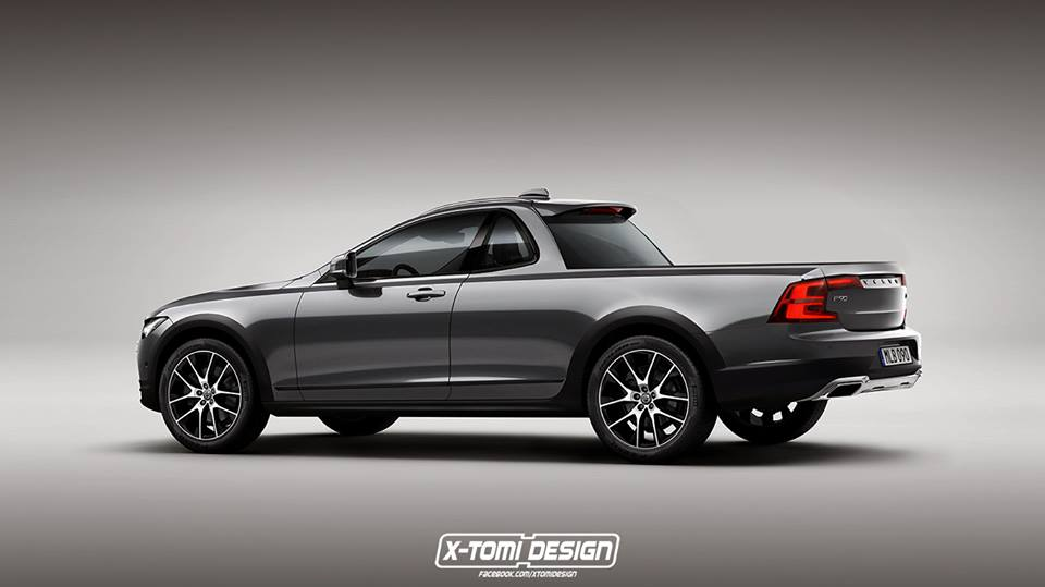 2017 Volvo V90 Cross Country Pickup Truck, a Rendering For ...