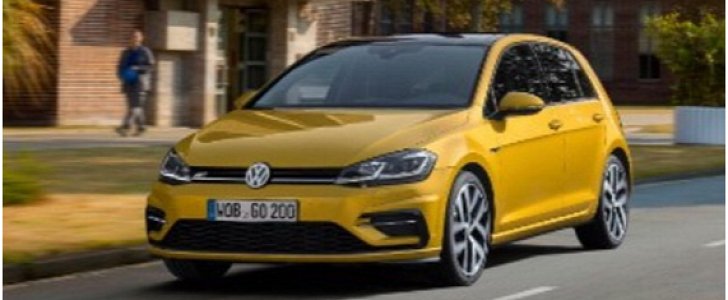 2017 vw golf facelift leaked in stunning liquid gold color autoevolution. Black Bedroom Furniture Sets. Home Design Ideas