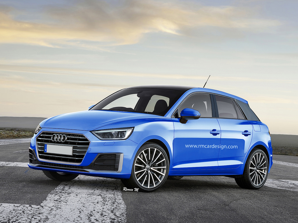 2018 audi a1 rendering seems to combine recent spyshots with the ibiza autoevolution. Black Bedroom Furniture Sets. Home Design Ideas