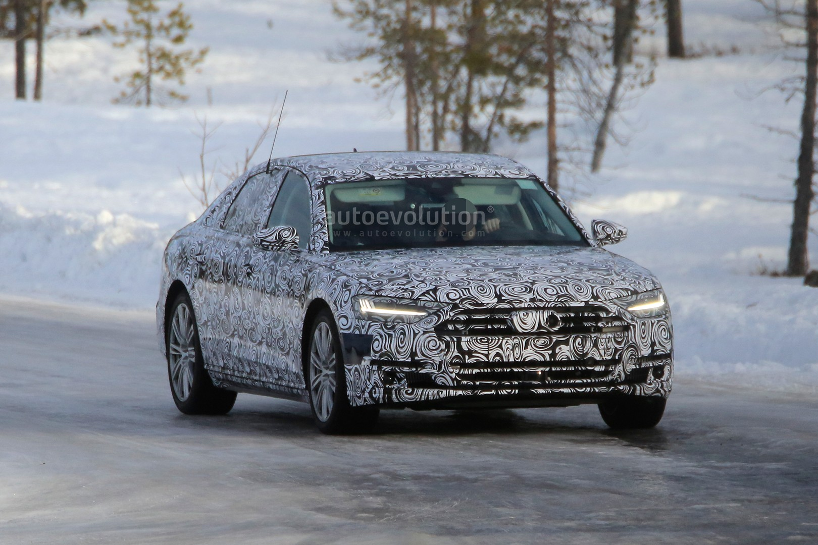 2018 Audi A8 and S8 Show New Design Details in Winter ...