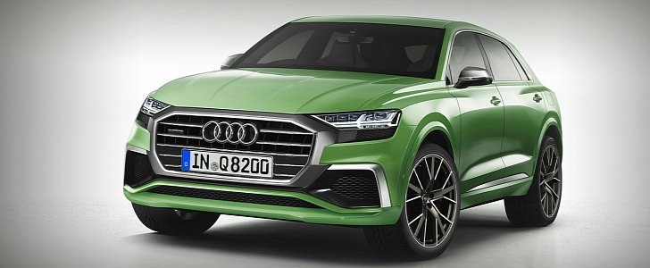 2018 Audi Q8 Rendered As Production Car With Showroom Audi Grille Looks Amazing Autoevolution