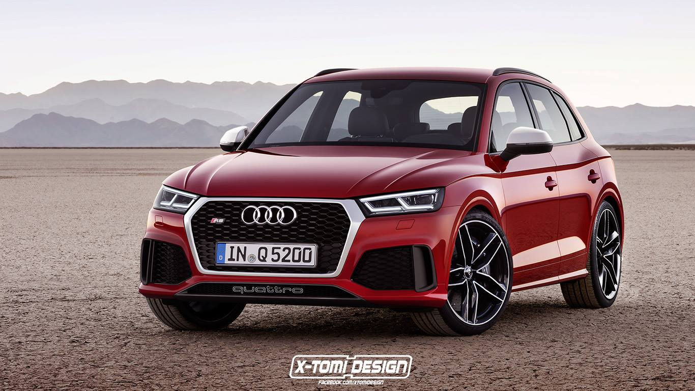 2018 audi rs q5 powered by 2 9l twin turbo porsche engine rendered autoevolution. Black Bedroom Furniture Sets. Home Design Ideas